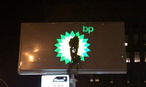 BP sign at Houston / Lafayette