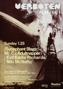 SUN - JAN - 23 ADULTNAPPER @ RIVINGTON HOTEL !